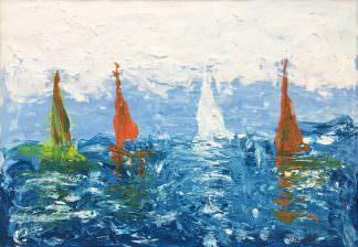 Кораблики 21x30 Бумага, акрил
