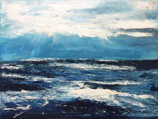 Море 30x40 Холст, акрил
