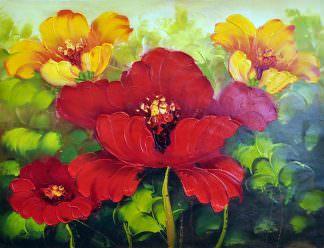 «Яркие цветы» картина 30х40 арт. 3Ц5