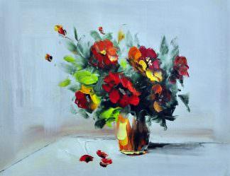 «Букет в вазе» картина 30х40 арт. 3Ц13