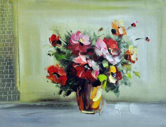 «Букет в вазе» картина 30х40 арт. 3Ц14