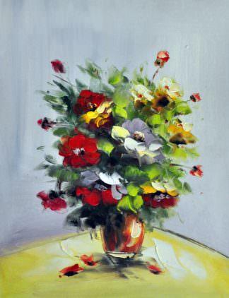 «Букет в вазе» картина 30х40 арт. 3Ц16