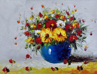 «Букет полевых цветов» картина 30х40 арт. 3Ц22