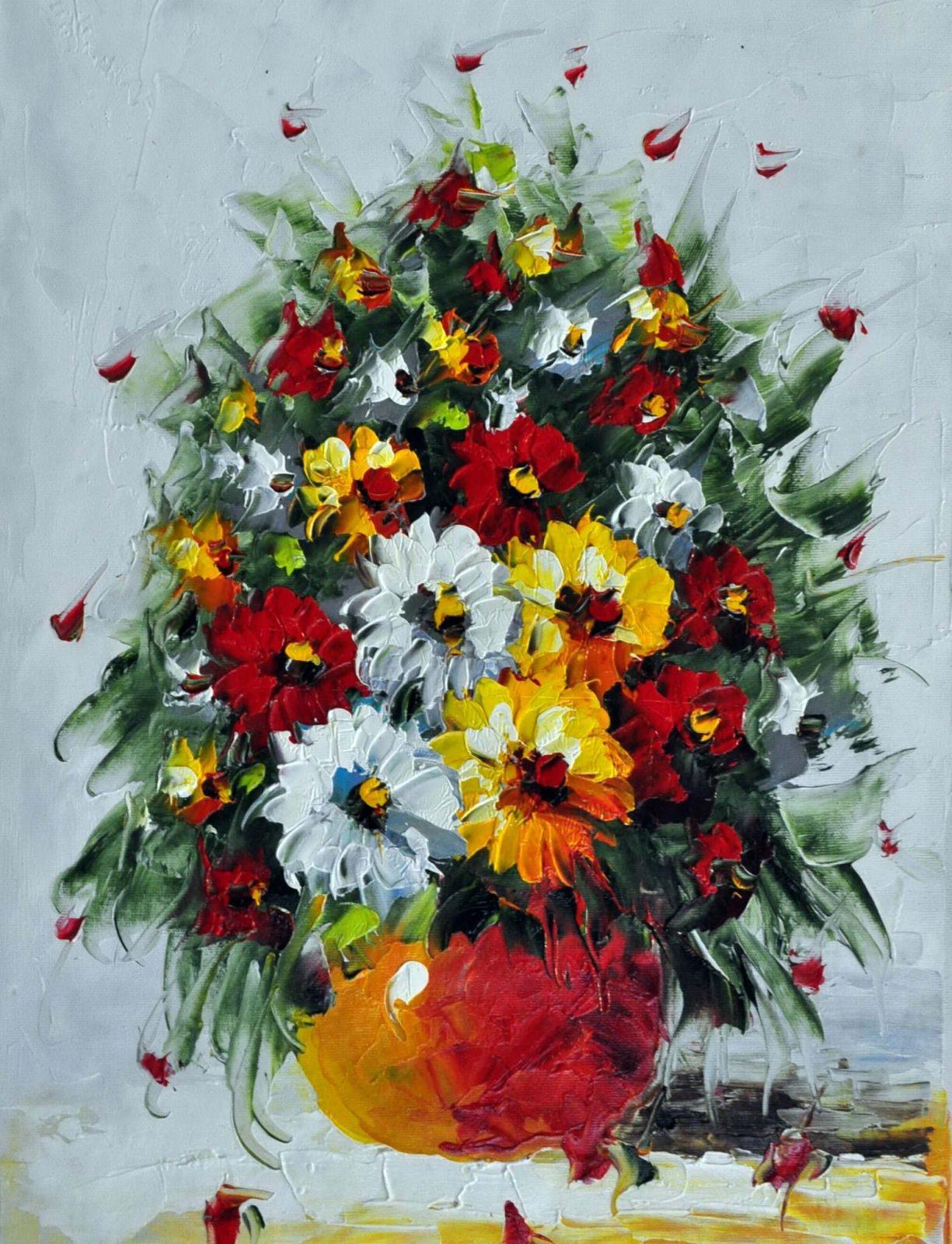 «Букет полевых цветов» картина 30х40 арт. 3Ц23