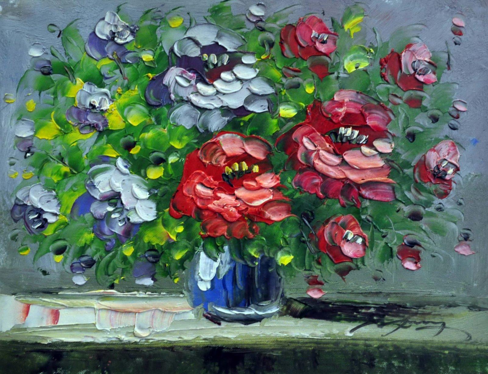 «Букет цветов» картина 30х40 арт. 3Ц026