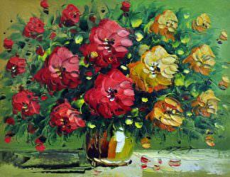 «Букет цветов» картина 30х40 арт. 3Ц30