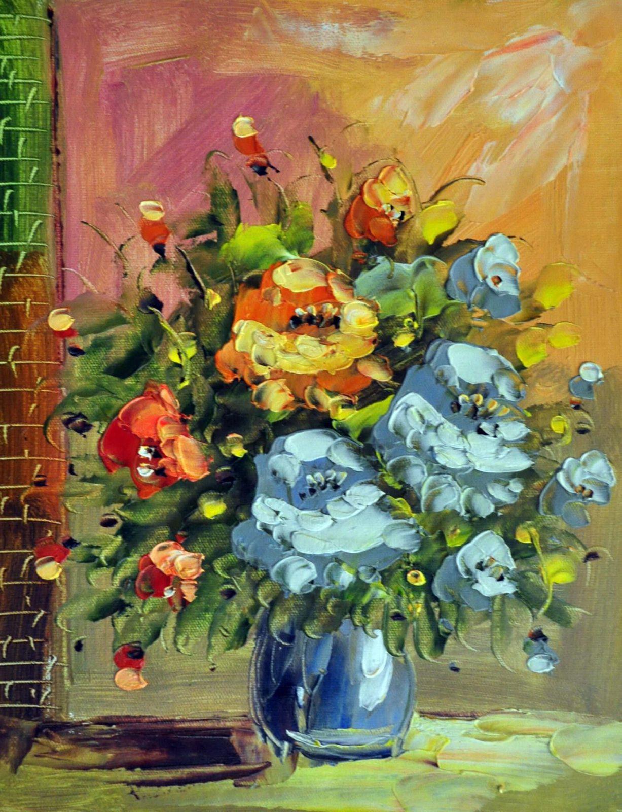 «Букет цветов» картина 30х40 арт. 3Ц031