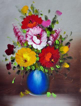 «Цветы в вазе» картина 30х40 арт. 3Ц032