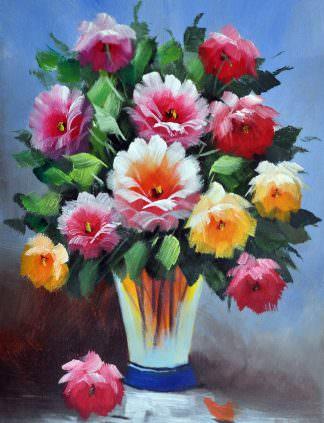 «Цветы в вазе» картина 30х40 арт. 3Ц34