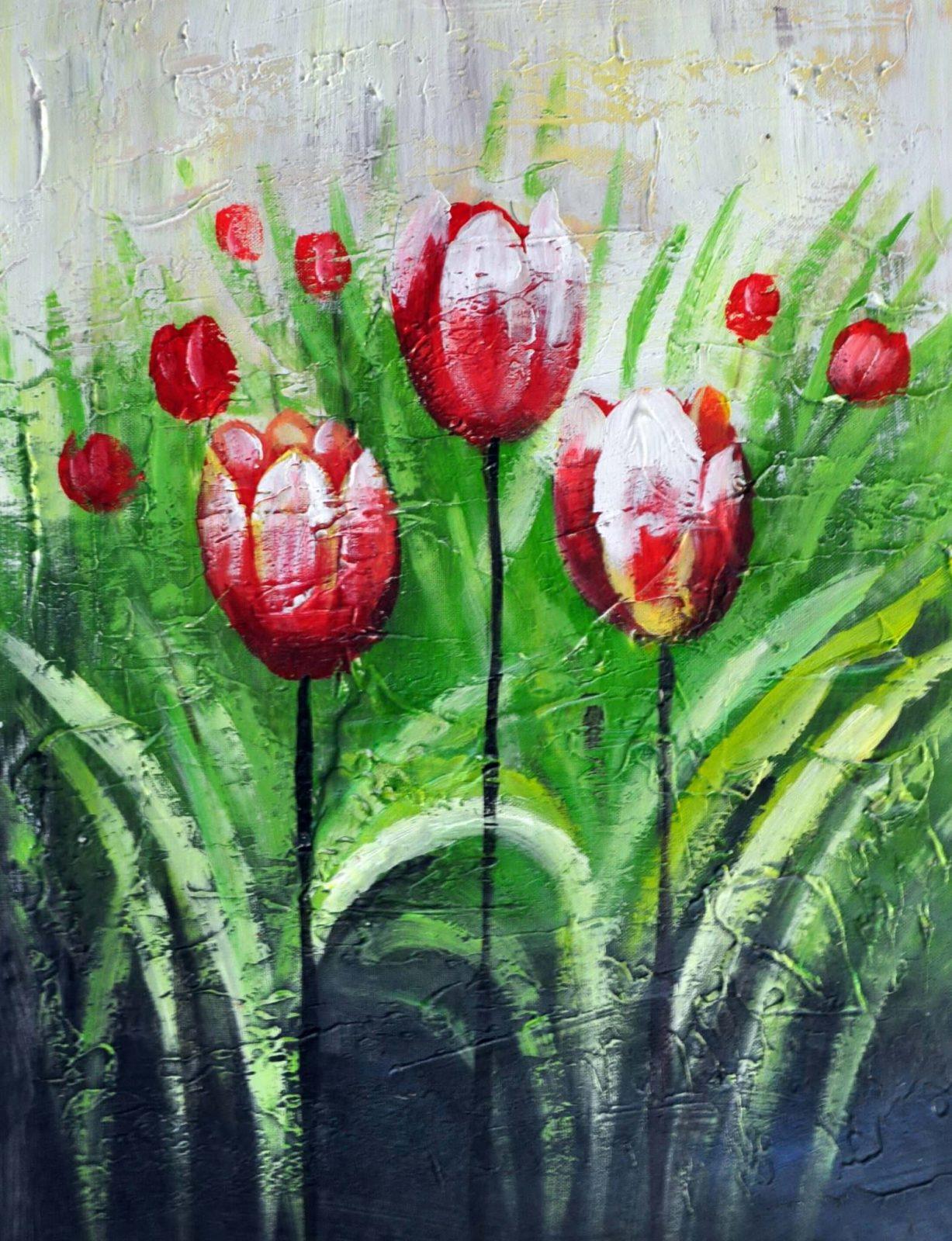 «Тюльпаны» картина 30х40 арт. 3Ц35
