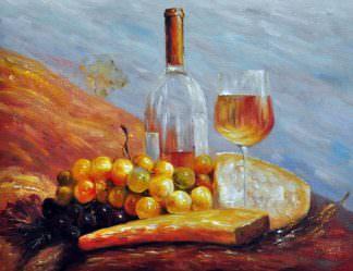«Белое вино» картина 30х40 арт. 3Ц049