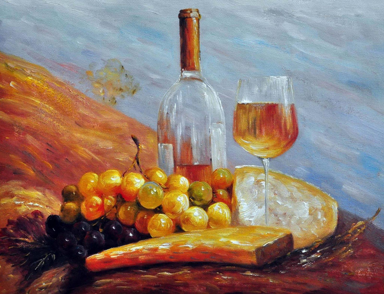 «Белое вино» картина 30х40 арт. 3Ц49
