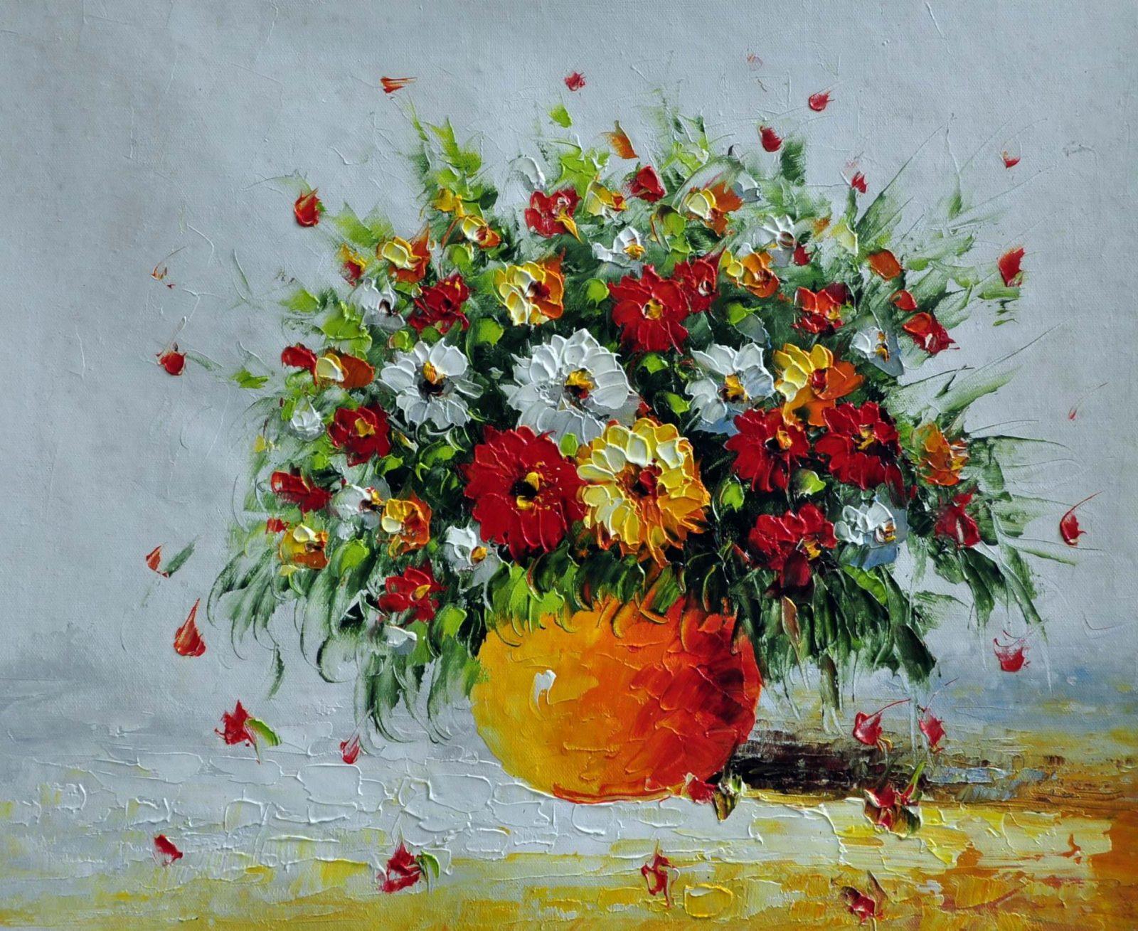 «Полевые цветы»картина 50х60 арт. Ц004