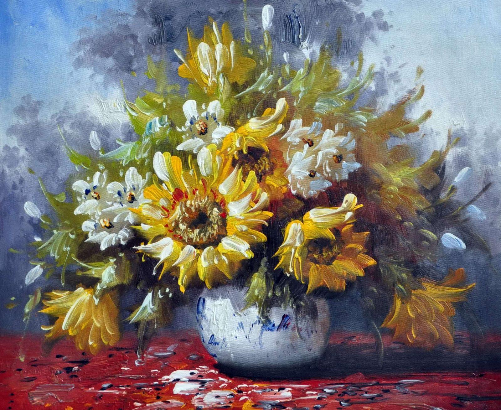 «Букет подсолнухов» картина 50х60 арт. Ц022