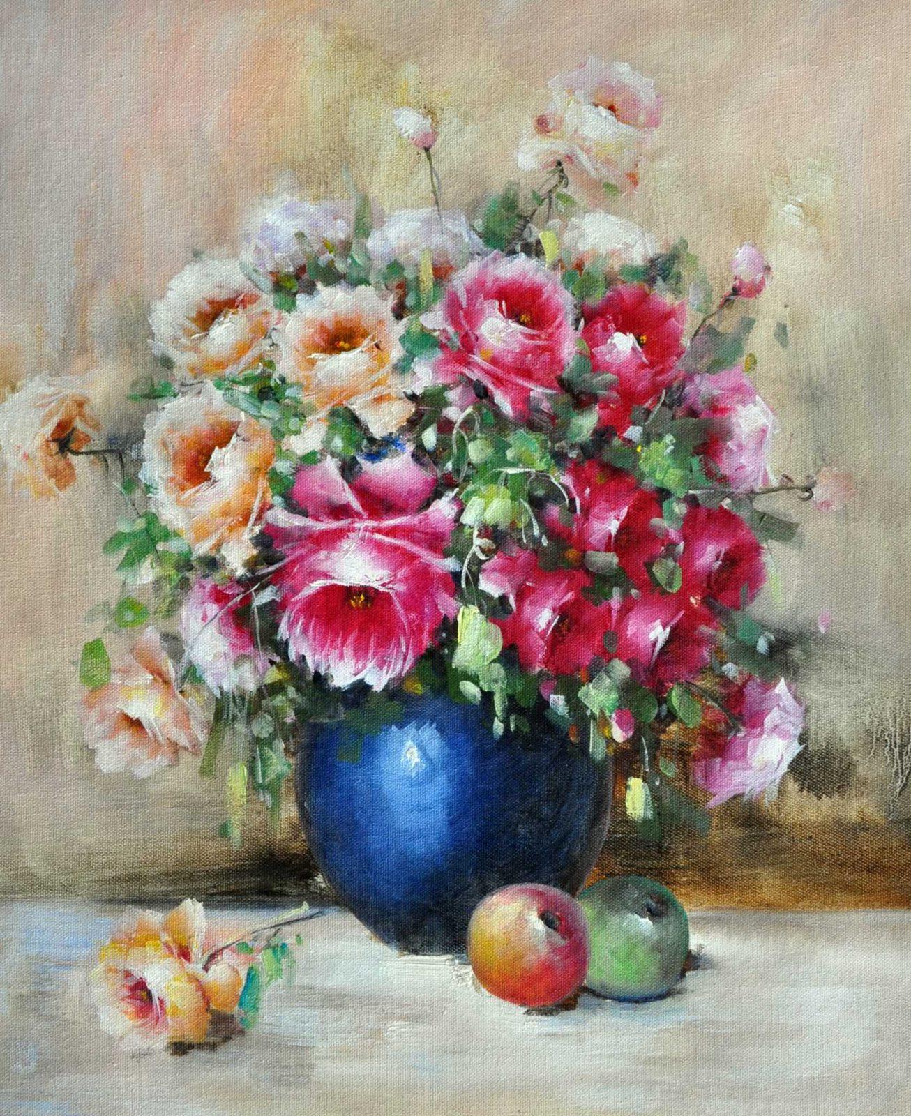 «Нежные розы» картина 50х60 арт. Ц044