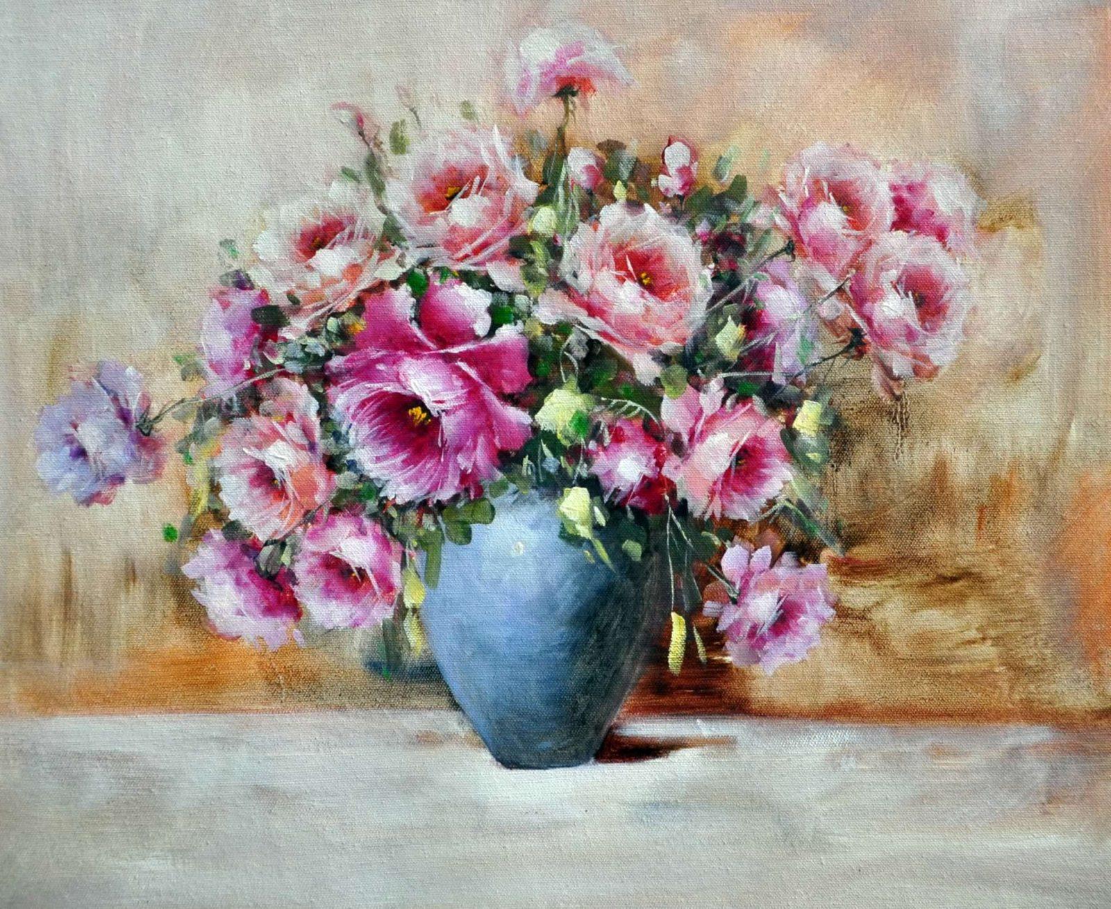 «Нежные розы» картина 50х60 арт. Ц045
