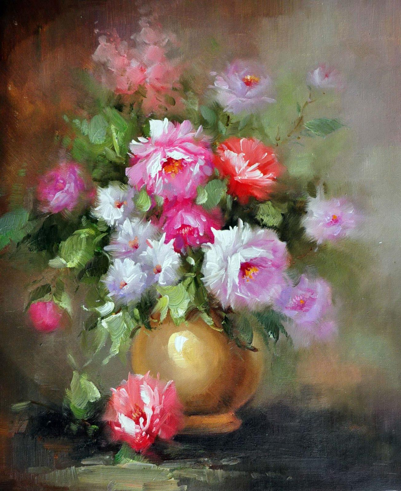 «Розовый букет» картина 50х60 арт. Ц051