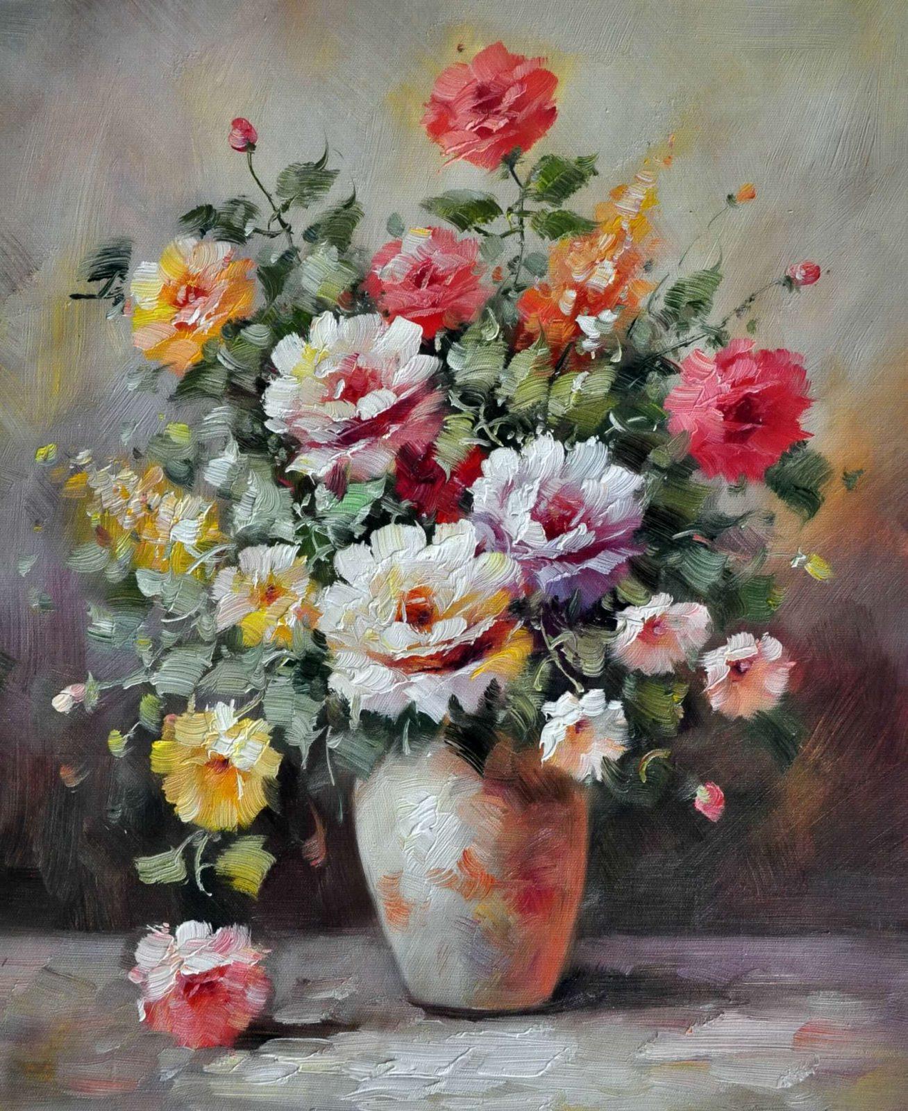 «Розы в вазе» картина 50х60 арт. Ц059