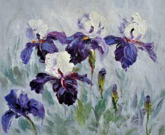 «Ирисы» картина 50х60 арт. Ц086