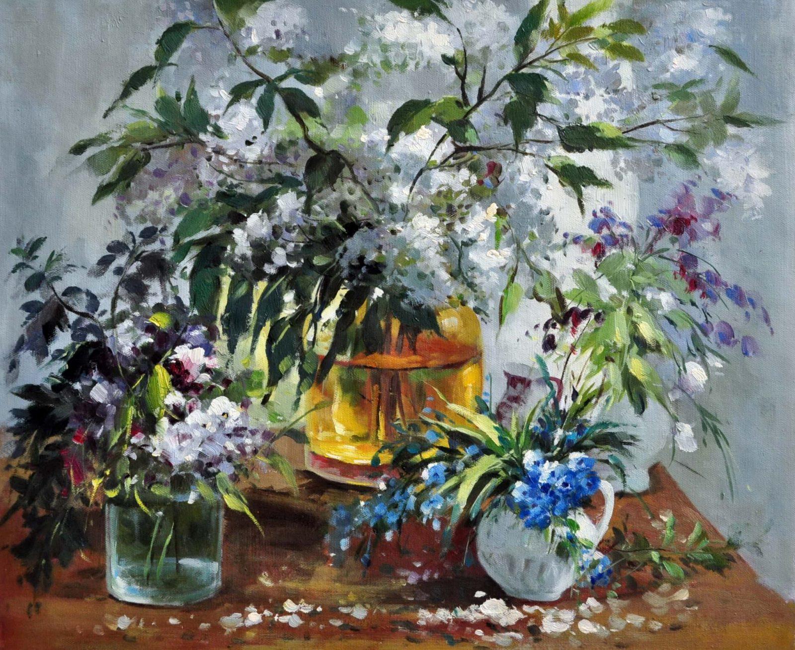 «Цветы на столе» картина 50х60 арт. Ц099