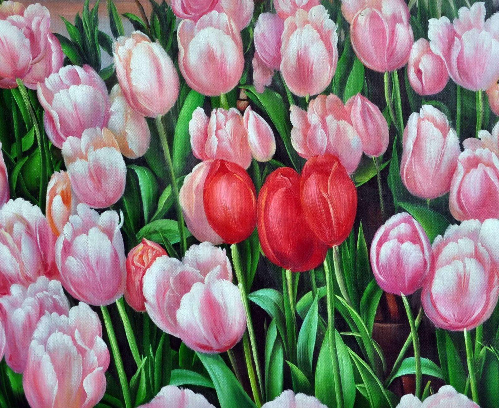 «Тюльпаны» картина 50х60 арт. Ц103