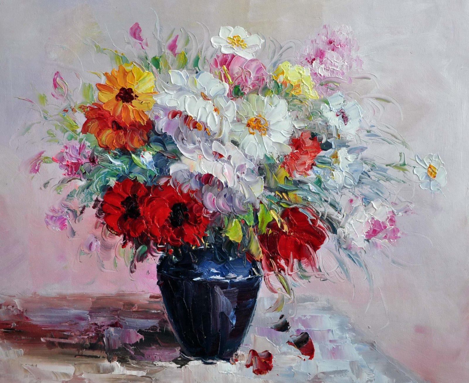 «Яркий букет» картина 50х60 арт. Ц122