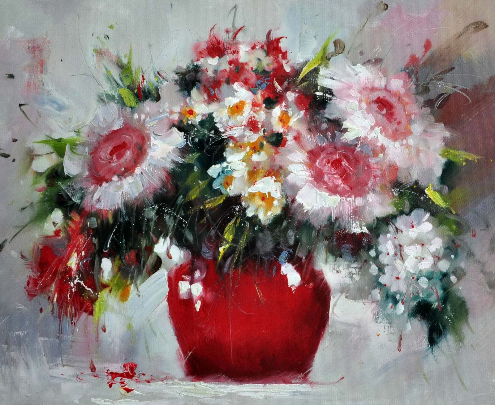 «Букет цветов» картина 50х60 арт. Ц130