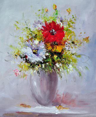 «Букет с красным цветком» картина 50х60 арт. Ц138