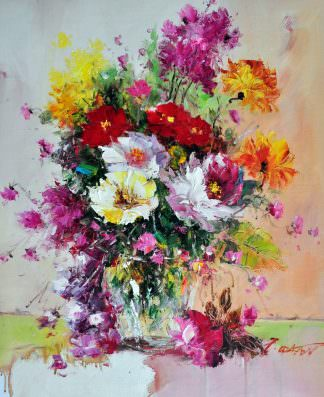 «Полевые цветы» картина 50х60 арт. Ц146