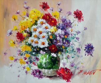 «Полевые цветы» картина 50х60 арт. Ц147