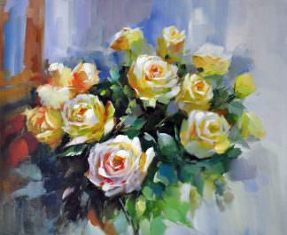 «Чайные розы» картина 50х60 арт. Ц149