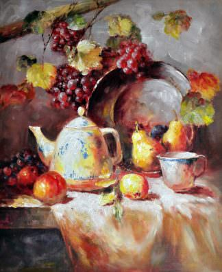 «Натюрморт с фарфоровым чайником» картина 50х60 арт. Ц151