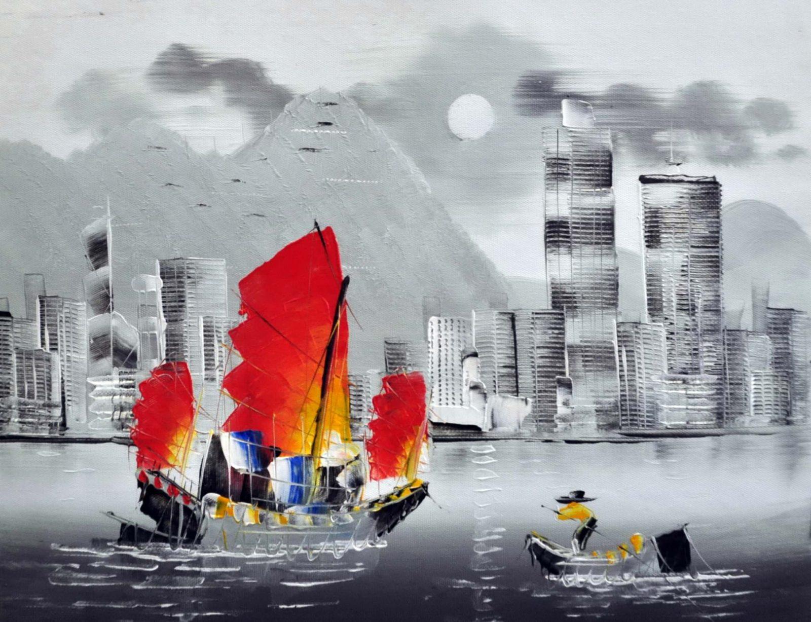 «Гонконг» картина 30х40 арт.3ГР2