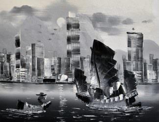 «Гонконг» картина 30х40 арт.3ГР3