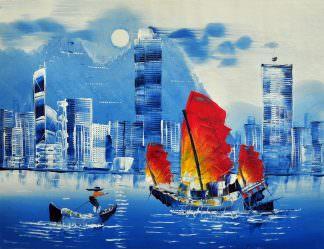 «Гонконг» картина 30х40 арт.3ГР4