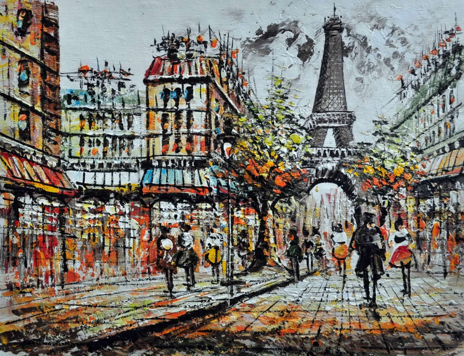 «Прогулка по Парижу» картина 30х40 арт.3ГР7