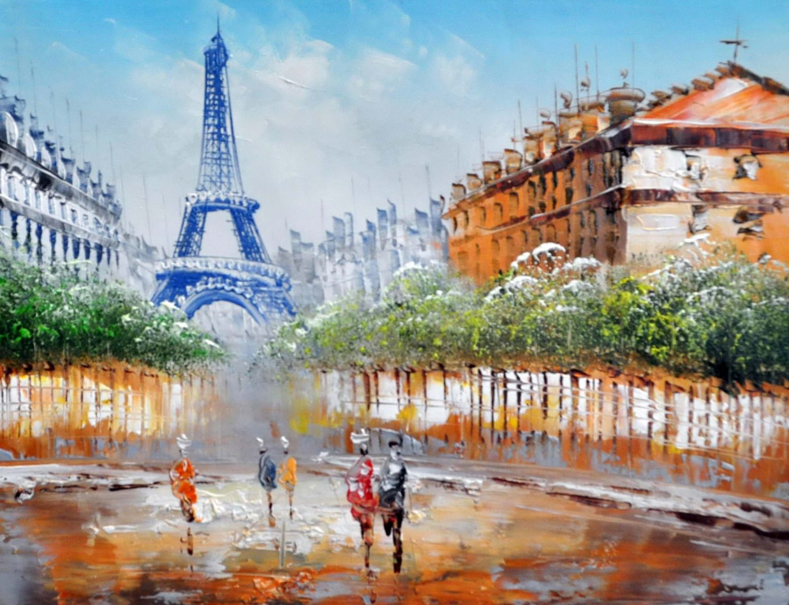 «Вид на Эйфелеву башню» картина 30х40 арт.3ГР11