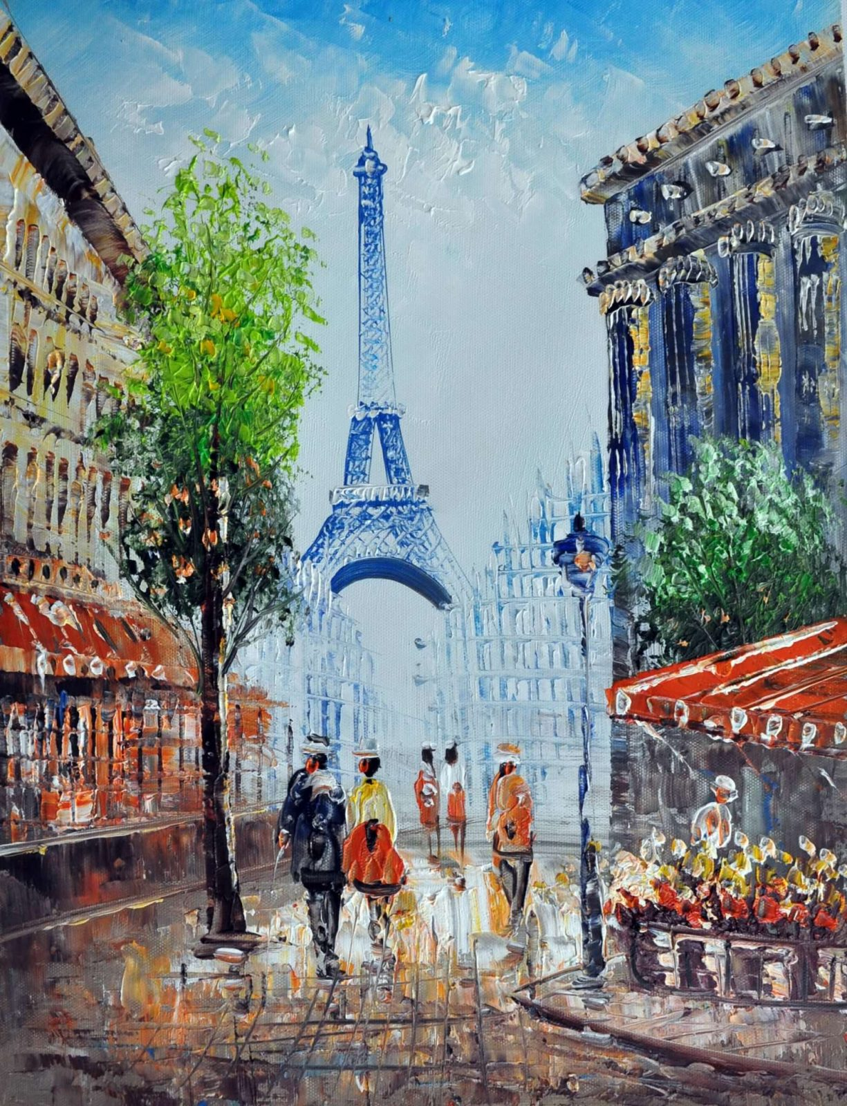 «Вид на Эйфелеву башню» картина 30х40 арт.3ГР13