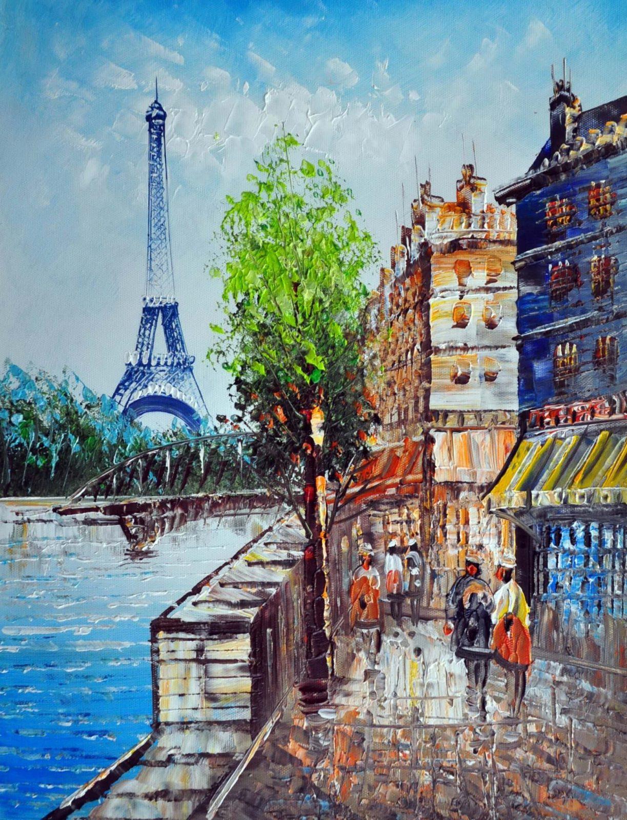 «Вид на Эйфелеву башню» картина 30х40 арт.3ГР14