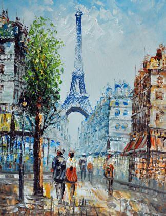 «Вид на Эйфелеву башню» картина 30х40 арт.3ГР15