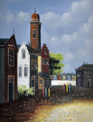 «Улочки старого города» картина 30х40 арт.3ГР16