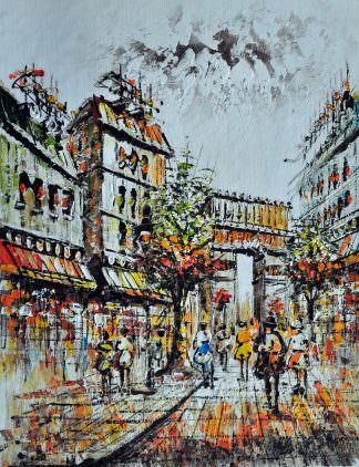 «Прогулка по Парижу» картина 30х40 арт.3ГР21