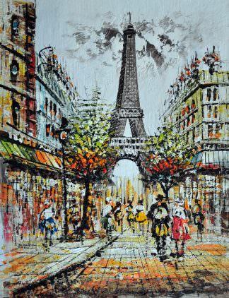 «Прогулка по Парижу» картина 30х40 арт.3ГР22