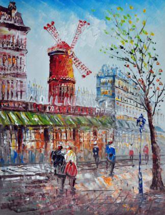 «Парижские улочки»картина 30х40 арт.3ГР25