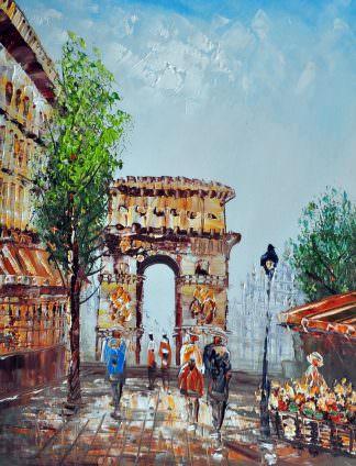 «Парижские улочки»картина 30х40 арт.3ГР28