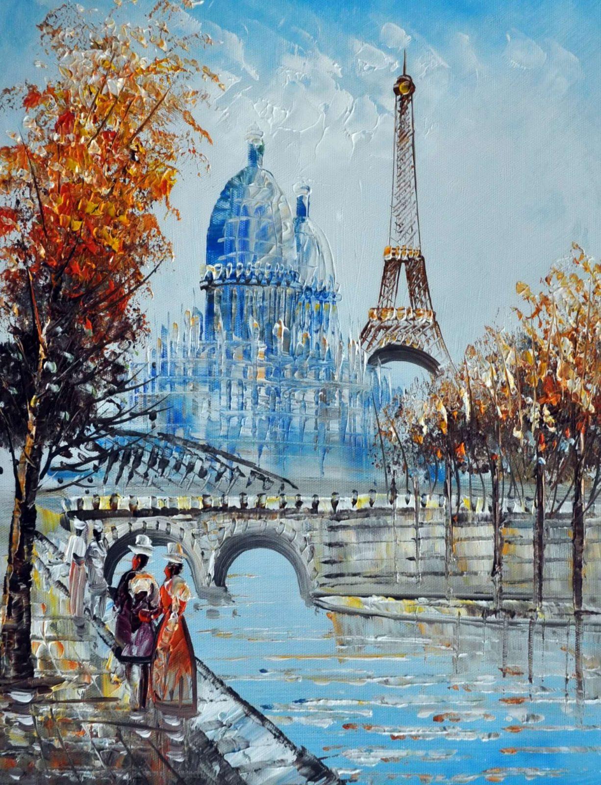 «Парижские улочки»картина 30х40 арт.3ГР29