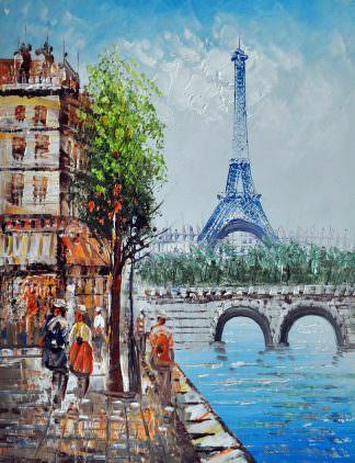 «Парижские улочки» картина 30х40 арт.3ГР30