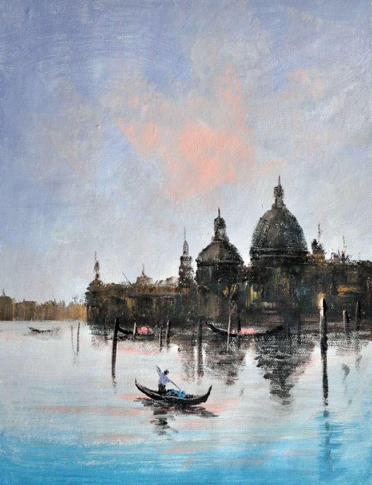 «Венеция на рассвете» картина 30х40 арт.3ГР46