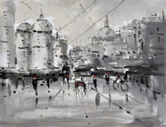 «Городской пейзаж» картина 30х40 арт.3ГР49