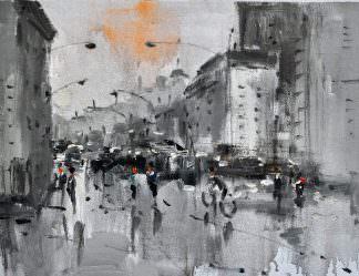 «Городской пейзаж» картина 30х40 арт.3ГР50